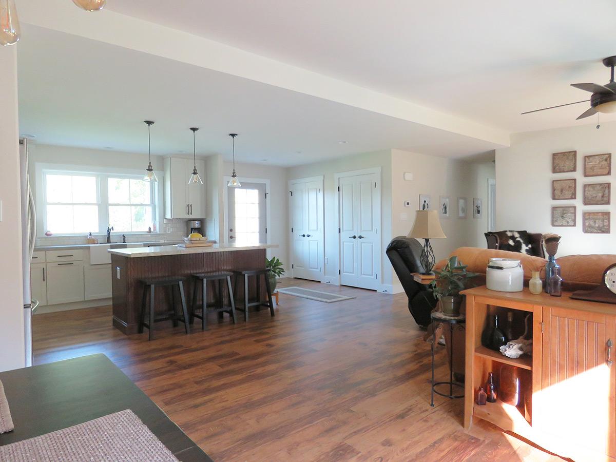 Modular Home With Foyer : Modern farmhouse ranch modular home kitchen foyer